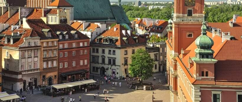 Picture of the Warsaw Old Town.