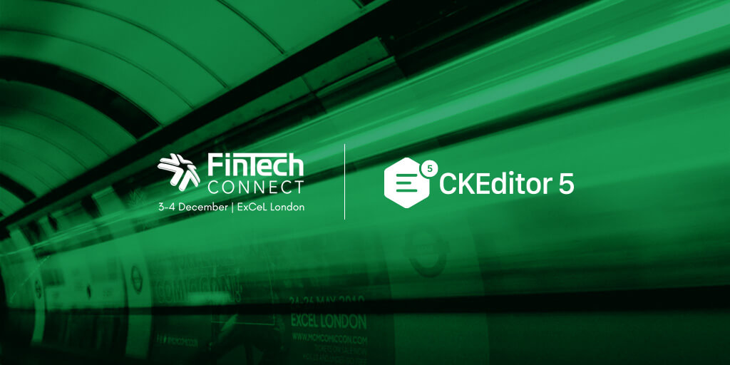 Exhibiting CKEditor 5 with collaboration features at Fintech Connect