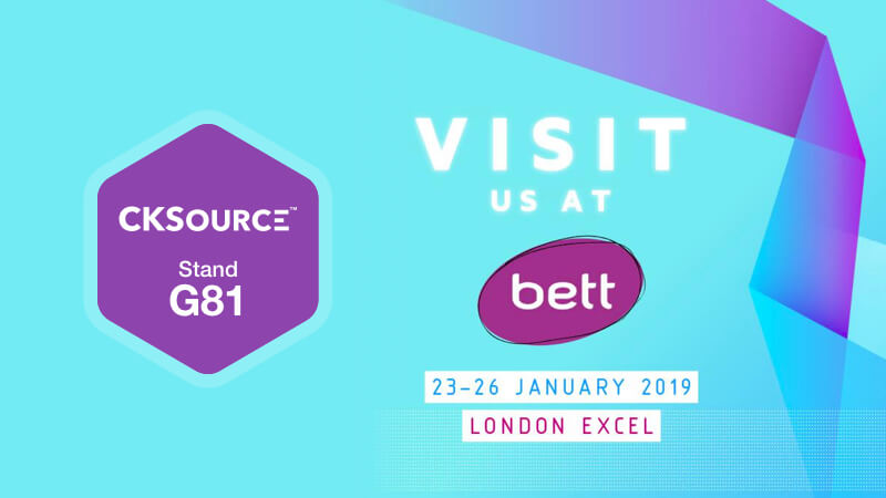 CKEditor at Bett 2019. Write, Collaborate, Educate