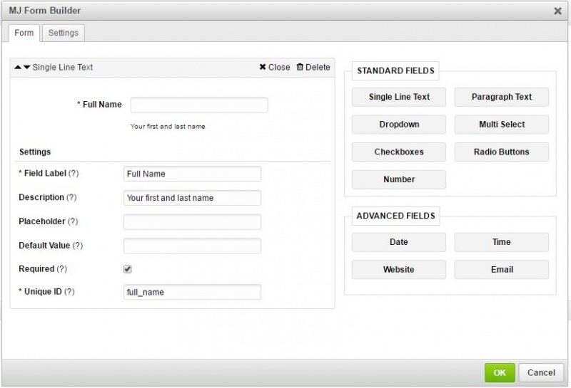 Mj Form Builder With Jquery Php Email Functionality Ckeditor