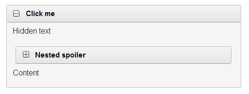 Spoiler html codes