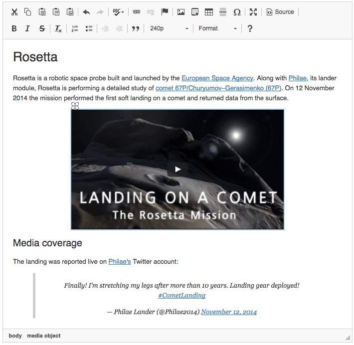Embedding Media Resources - CKEditor 4 Documentation