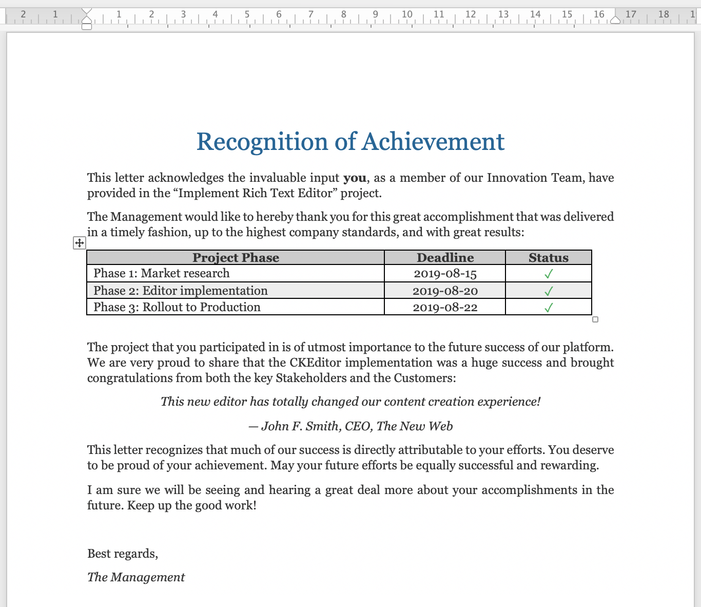 word sample document