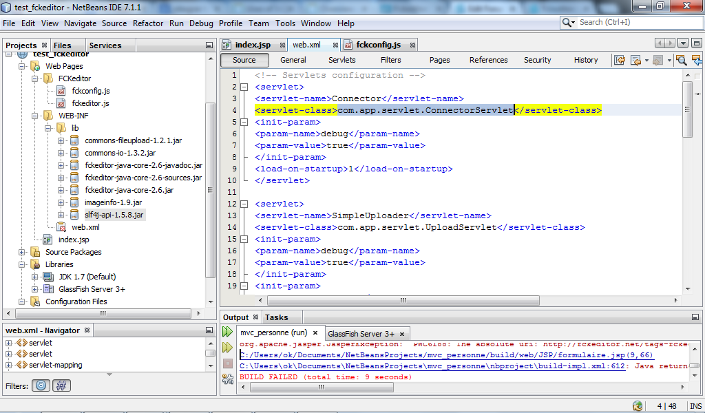 Integer FCKeditor to JSP pages using Netbeans | CKEditor com Forums